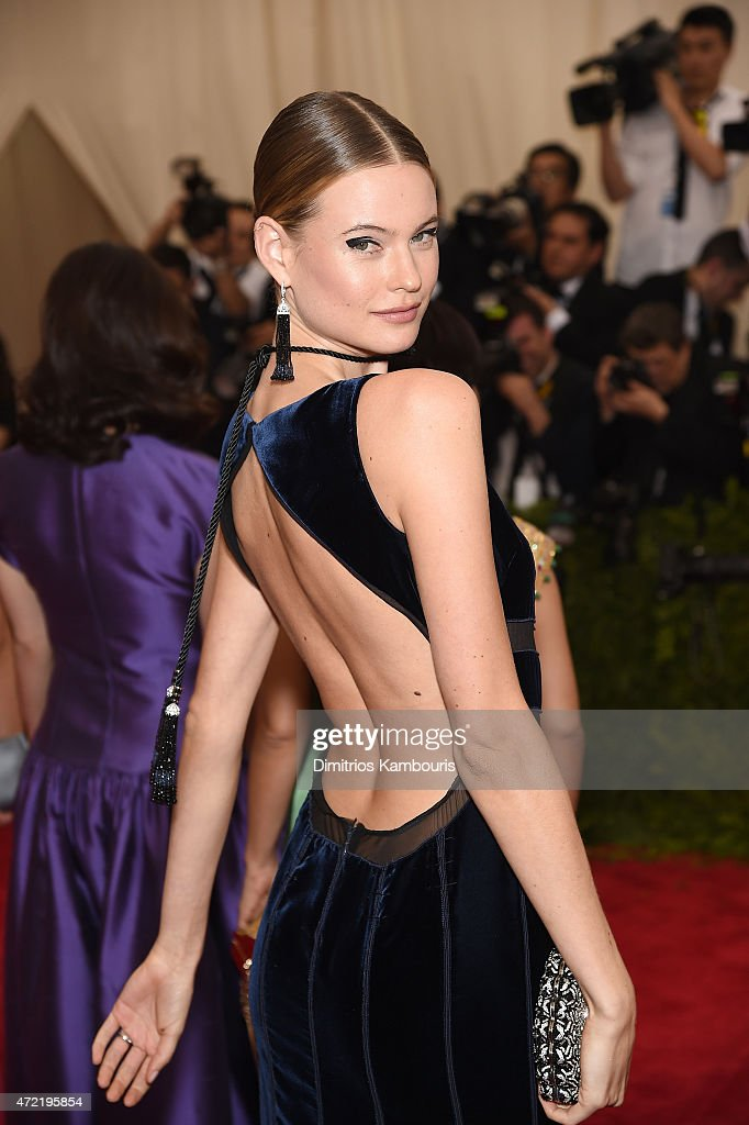 Behati Prinsloo attends the 'China Through The Looking Glass' Costume Institute Benefit Gala at the Metropolitan Museum of Art on May 4 2015 in New...