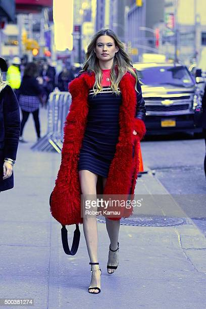 Behati Prinsloo attends The Late Show with Stephen Colbert on December 7 2015 in New York City