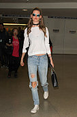 Behati Prinsloo is seen at LAX on November 04 2015 in Los Angeles California