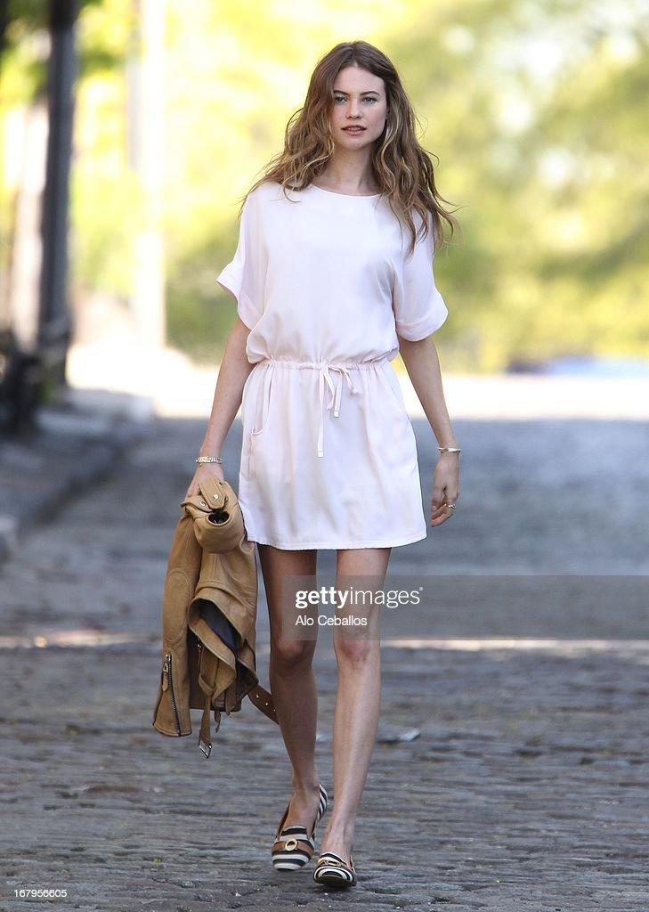 Behati Prinsloo is seen during Victoria's Secret Photo Shoot on May 2, 2013 in New York City.