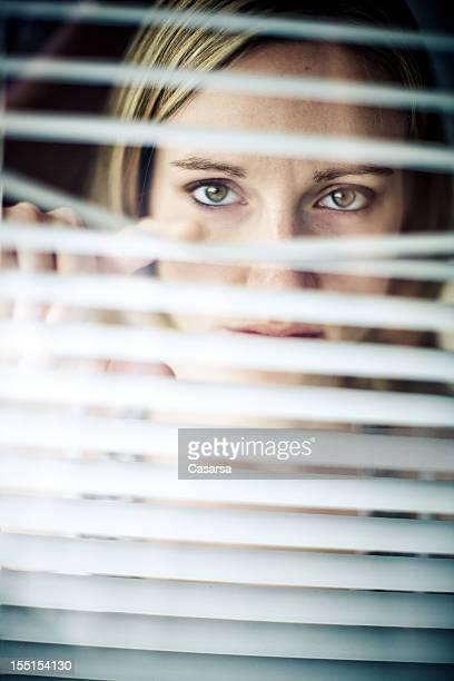 Behind blinds