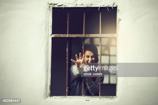 behind the bars : Stock Photo