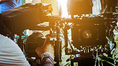 Film crew, Detail of Professional camera equipment