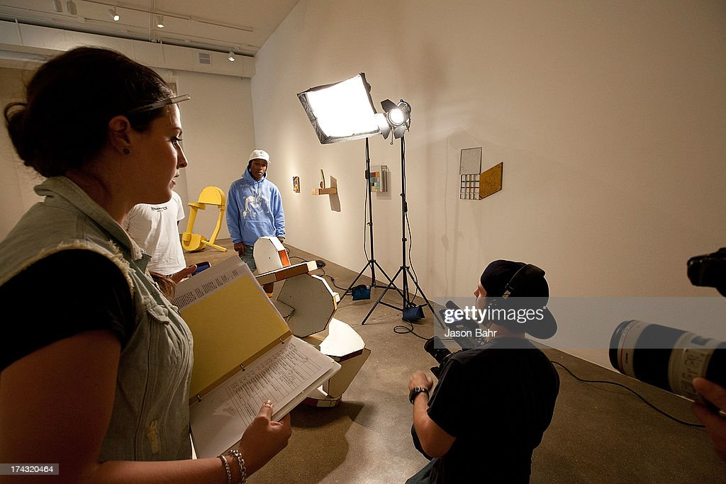 A behind the scenes look during filming for Music Choice's Take Back Your Music Campaign featuring A$AP Rocky and A$AP Ferg at Robischon Gallery on July 23, 2013 in Denver, Colorado.