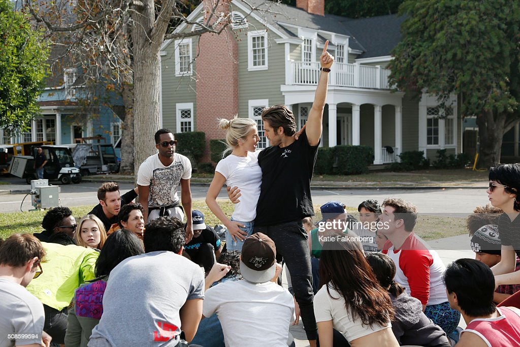 Behind the scenes of grease live are photographed for los angeles