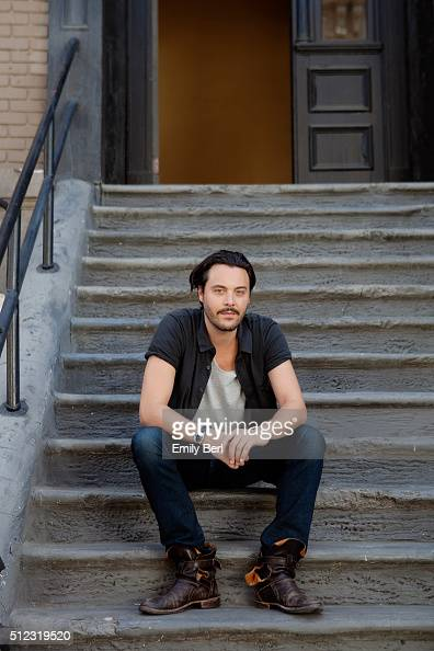 Behind the scenes of Jack Huston at the The Hollywood Reporter 2014 Emmy Supporting Actor Portrait BTS at the New York Street at 20th Century Fox...