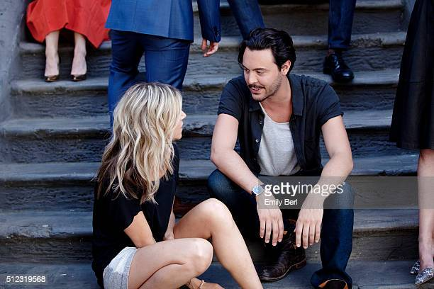 Behind the scenes of Kaitlin Olson and Jack Huston at the The Hollywood Reporter 2014 Emmy Supporting Actor Portrait BTS at the New York Street at...