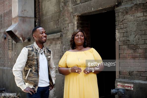 Behind the scenes of Lamorne Morris and Retta at the The Hollywood Reporter 2014 Emmy Supporting Actor Portrait BTS at the New York Street at 20th...
