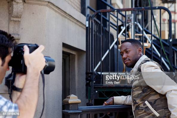 Behind the scenes of Lamorne Morris at the The Hollywood Reporter 2014 Emmy Supporting Actor Portrait BTS at the New York Street at 20th Century Fox...