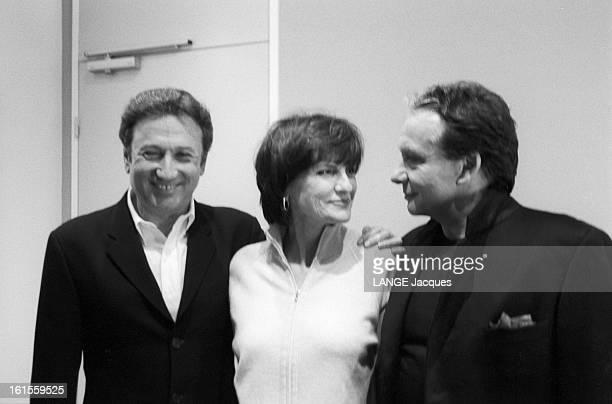 Behind The Scenes Of The Programme 'tapis Rouge' At Roland Garros By Michel Drucker On France 2 Paris à Roland Garros Dans les coulisses de...