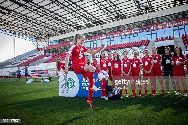 A behind the scenes view during the Allianz Women's Bundesliga Tour on August 25 2016 in Essen Germany