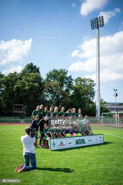 A behind the scenes view pictured during the Allianz Frauen Bundesliga Club Tour of Werder Bremen on August 14 2017 in Bremen Germany
