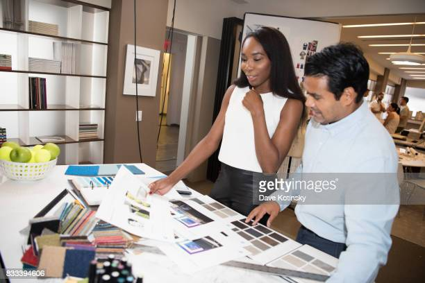 Behind the scenes with Venus Williams at the American Express US Open campaign shoot at Affirmation Arts on July 20 2017 in New York City
