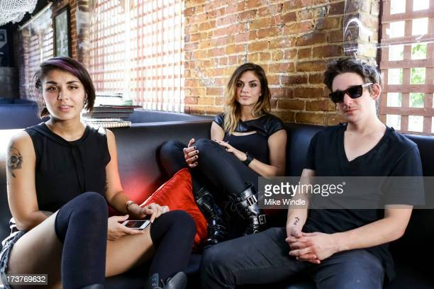 Behind the scenes with Yasmine Yousaf Jahan Yousaf and Kris 'Rain Man' Trindl of Krewella filming a new campaign for Music Choice at Dim Mak Studios...
