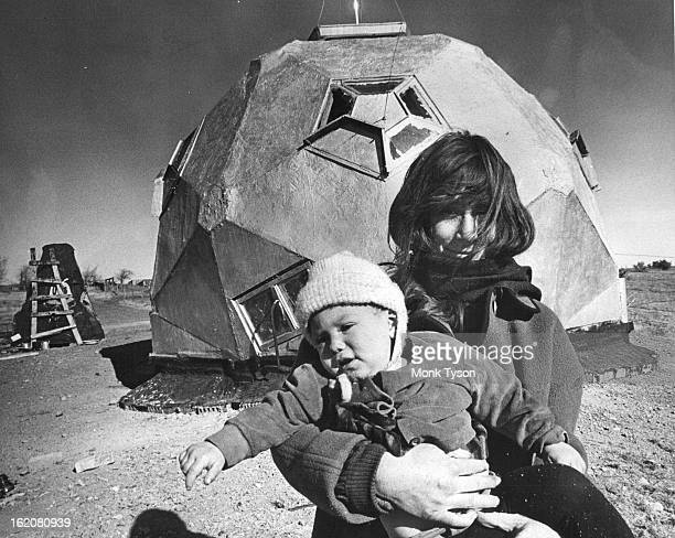 DEC 22 1965 DEC 24 1965 DEC 26 1965 'MRS OLEO MARGARINE' WITH DAUGHTER 'MELISSA' Behind them is a 'geodesic dome' made of wood and tarimpregnated