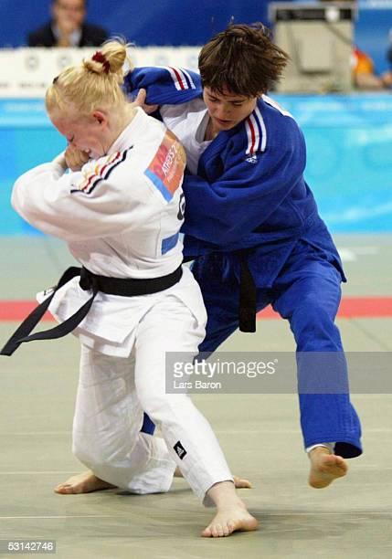 Paralympics 2004 Athen 180904 bis 52kg Finale Siegerin Susann SCHUETZEL / GER / Gold Sandrine AURIERES / FRA / Silber FotoBONGARTS/Lars Baron