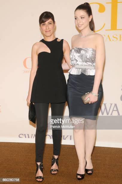 Behnaz Sarafpour and Michelle Trachtenberg attend CFDA AWARDS 2009 ARRIVALS at Alice Tully Hall on June 15 2009 in New York City