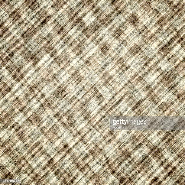 Beige Plaid Fabric background textured