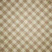 Beige Plaid Fabric