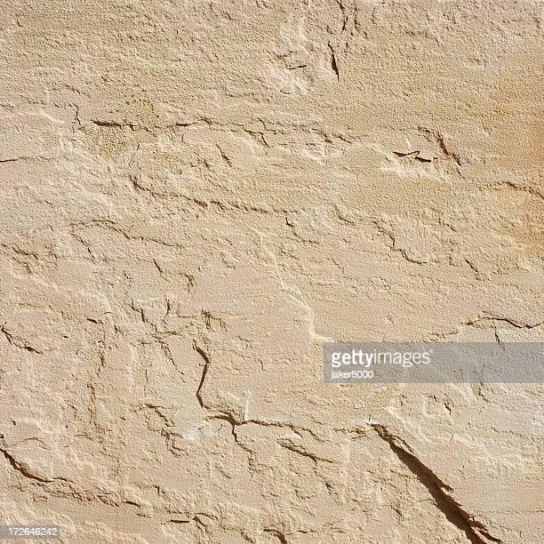 Beige sandstone texture in sun