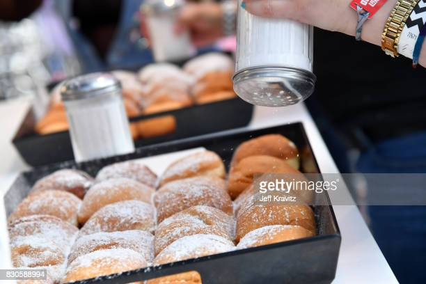Beignets are made during the 2017 Outside Lands Music And Arts Festival at Golden Gate Park on August 11 2017 in San Francisco California