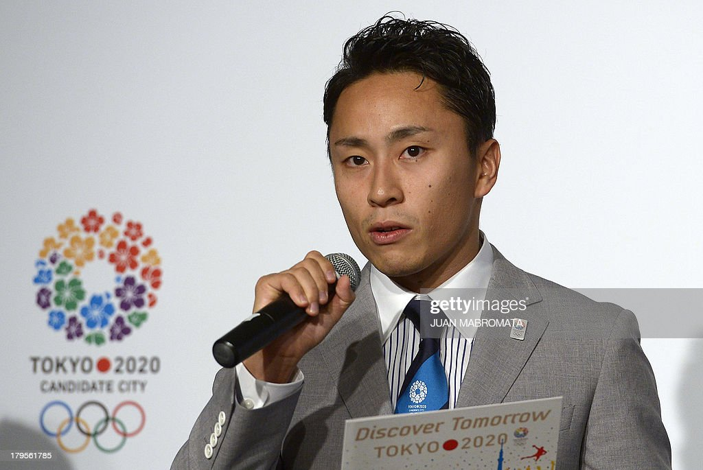Beijing 2008 and London 2012 Fencing Silver Medallist and Tokyo 2020 Athlete Ambassador Yuki Ota talks to journalists during a press conference to promote Tokyo for 2020 Olympic games on September 5, 2013 in Buenos Aires. The IOC meets in Buenos Aires with all the interest centered around its September 7 session --involving all 103 members- - where the host city for the 2020 Summer Olympics will be elected. AFP PHOTO / Juan MABROMATA