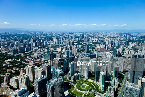 Beijing aerial View, Capital city of 20 million population