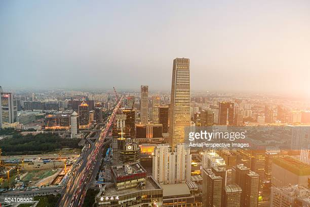 Beijing CBD area in Sunlight