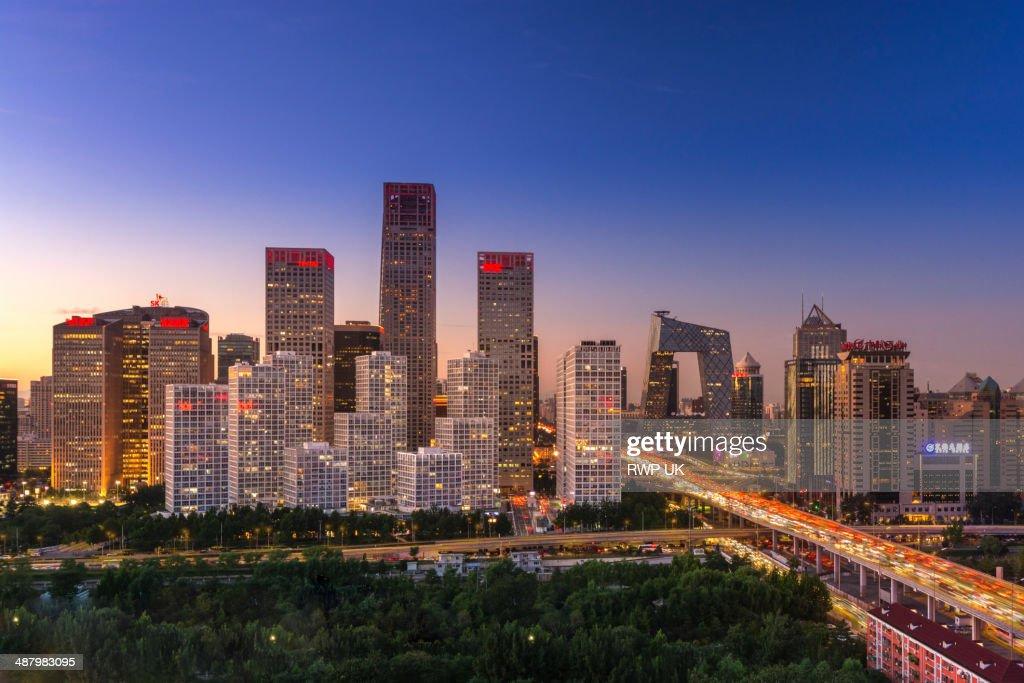 Beijing CBD, Dusk
