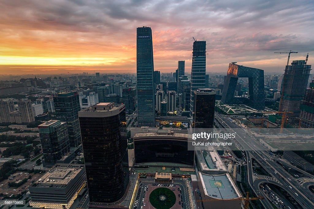 beijing cbd sunset