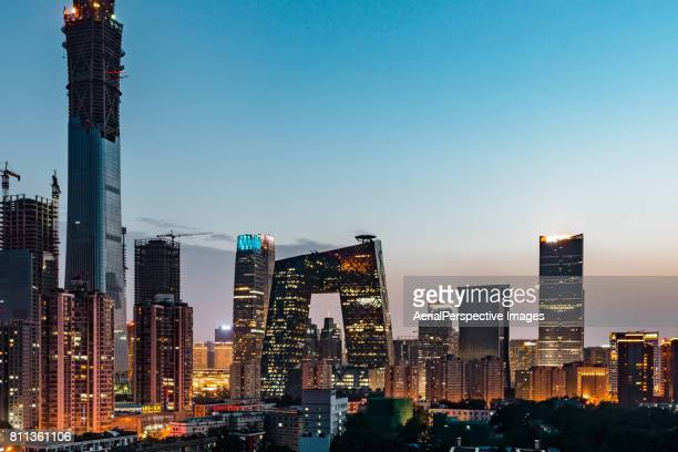 Beijing Central Business District (CBD) at Dusk / Beijing, China