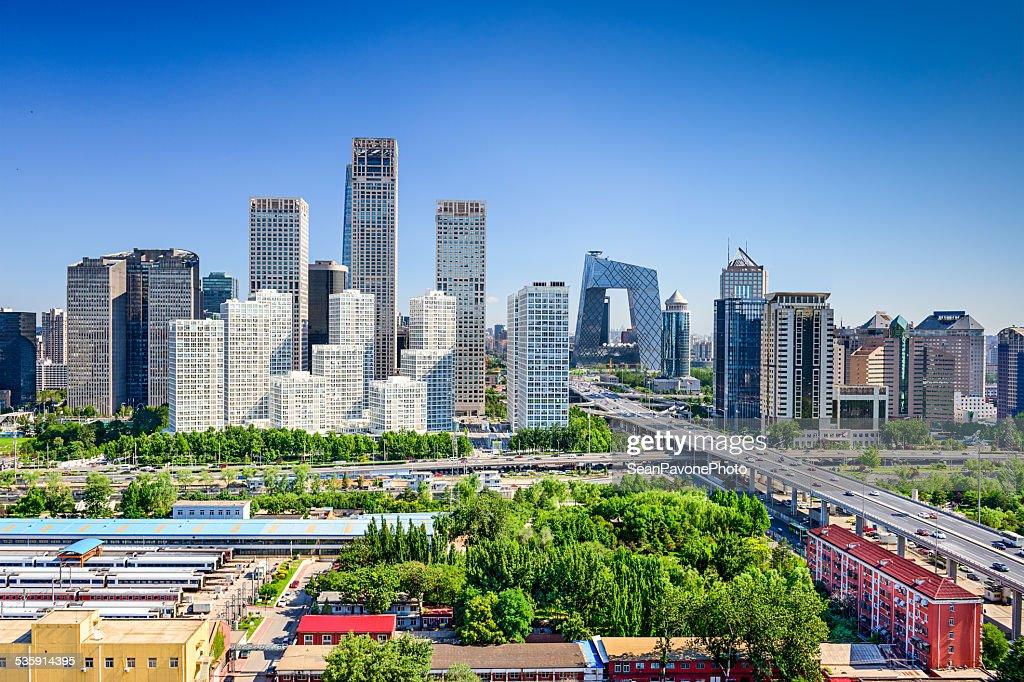 El distrito financiero de la ciudad de Pekín, China : Foto de stock