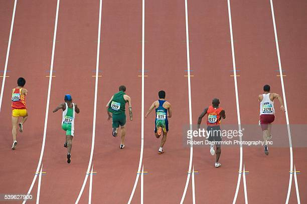 'Beijing China September 13 2008 Day 8 of athletic competition at theBeijing 2008 Paralympic Games shows Xu Zhao of China Joseph Godwin Mbakara of...