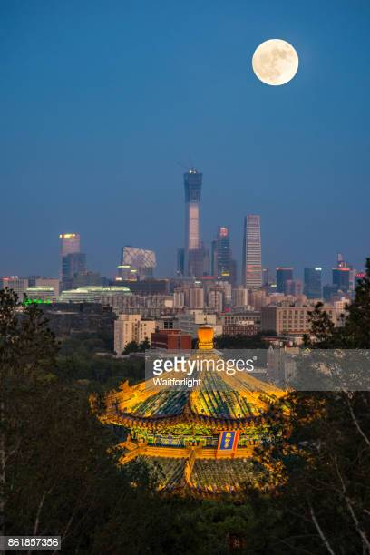 Beijing downtown district view from Jingshan hill