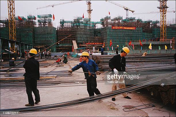 Beijing gets ready to host 2008 Summer Olympics in Beijing China on September 14th 2005 The national Olympic stadium The National Stadium is located...