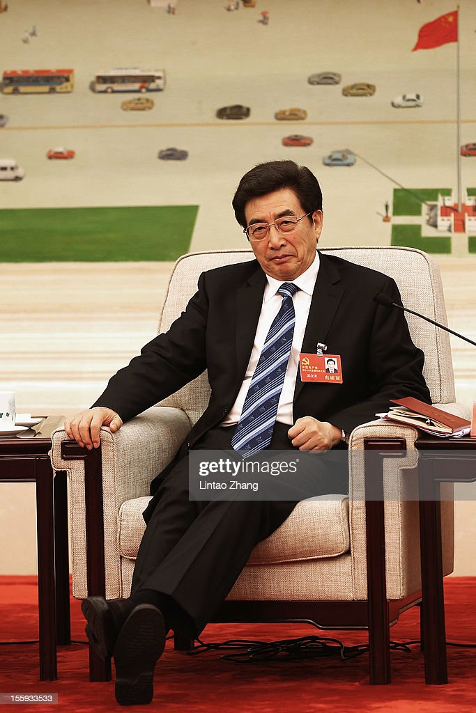 Beijing Municipal Communist Party Secretary Guo Jinlong attends a meeting of the 18th Communist Party Congress at the Great Hall of the People on November 9, 2012 in Beijing, China. The Communist Party Congress will convene from November 8-14 and will determine the party's next leaders.
