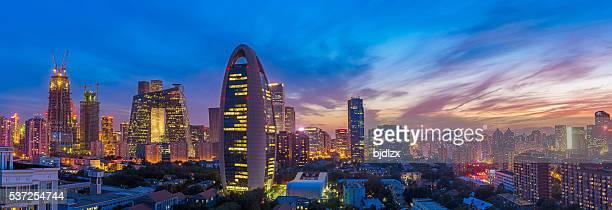 Beijing skyline bei Sonnenuntergang