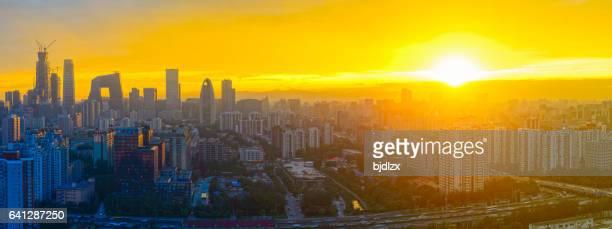 Beijing skyline at sunset
