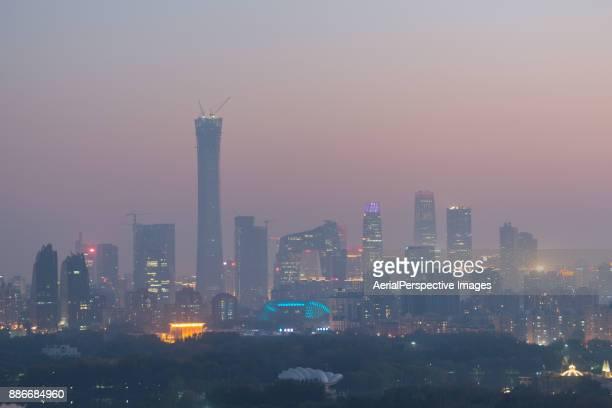 Beijing Smog at Dusk