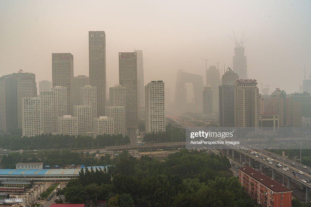 Beijing Smog, Cityscape of Beijing in air pollution