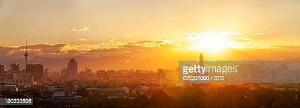 Beijing sunset and skyline