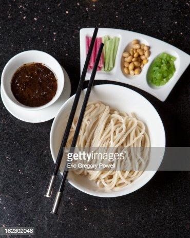 Beijing Zhajiang Noodle Soya Paste : Stock Photo
