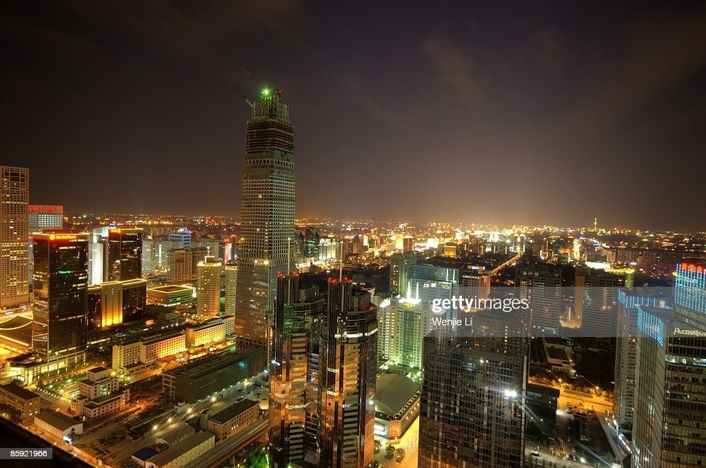 Beijing's Night : Stock Photo