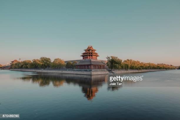 Beijing,the forbidden city at dusk