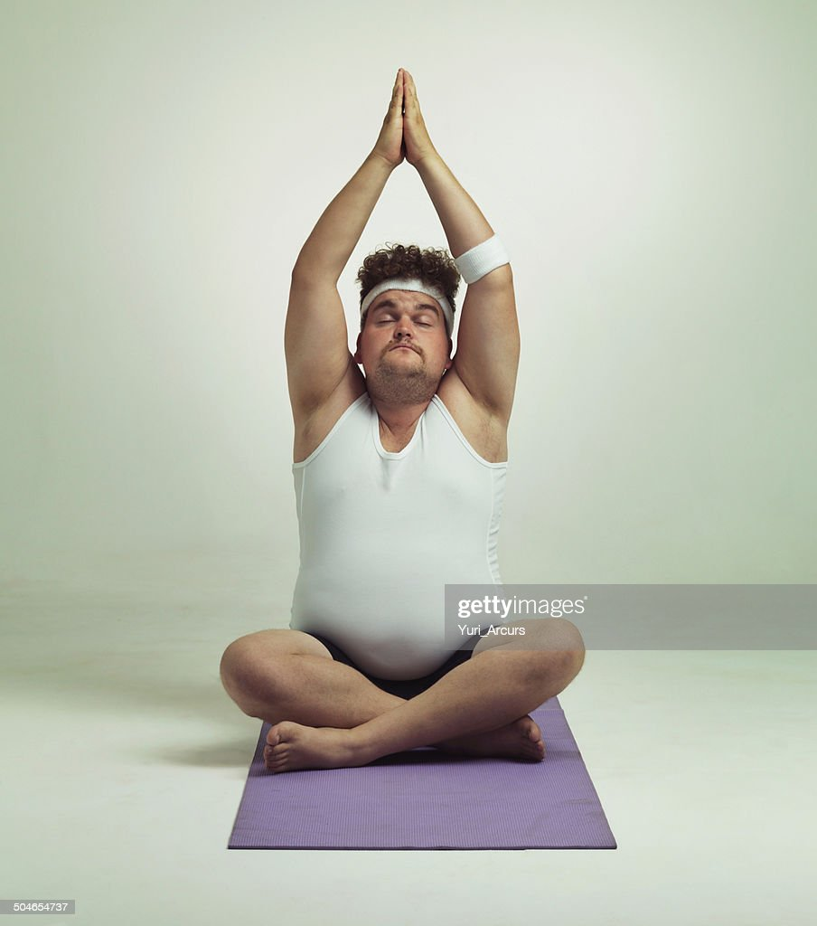 Being fit is easy especially with yoga : Stock Photo