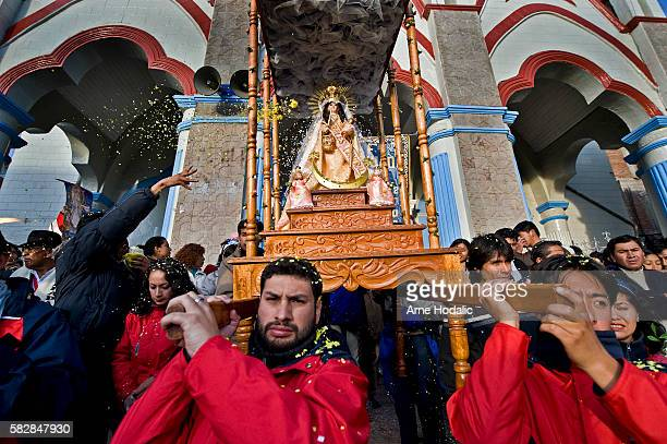 Being this festival in honor of the Virgin the festivities had to consider as a starting point of the eucharistic celebrations the sanctuary...