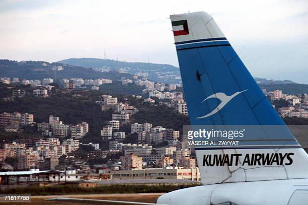 A Kuwait Airways airplane lands in Beirut's international airport 07 September 2006 just after Israel lifted its punishing eightweek air blockade...