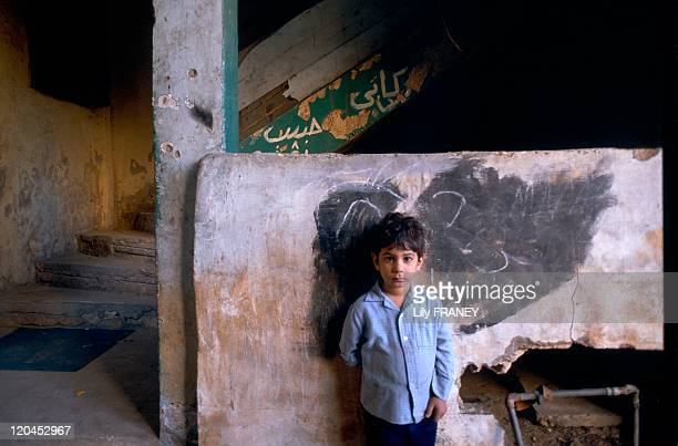 Beirut Lebanon in May 1991 Children in the ruins