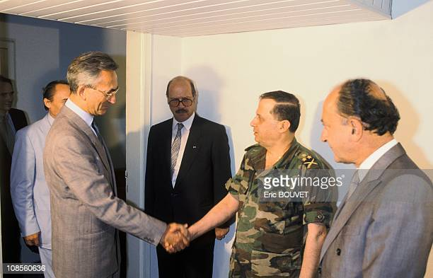 Beirut meeting between French emissary Francois Scheer and Michel Aoun in Beirut Lebanon in August 1999