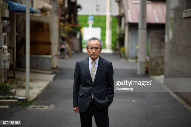Beji Sasaki chairman of Freesia Macross Co poses for a photograph in Tokyo Japan on Thursday April 20 2017 Sasaki a 61yearold entrepreneurfashion...